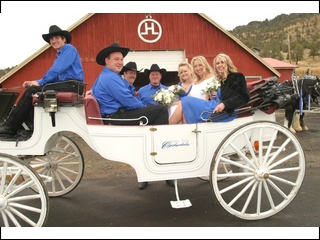 Wedding party at Walking H Ranch